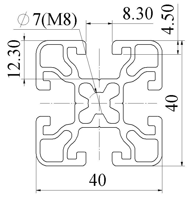 Nhôm định hình 40x40 ATV4-4040-04